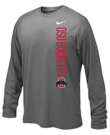 Nike Ohio State Buckeyes Vertical Mascot Legend Long Sleeve T-Shirt, Big Boys (8-20)