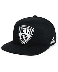 adidas Kids' Brooklyn Nets Black and White Snapback Cap