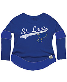Retro Brand Women's St. Louis Blues Faceoff Thermal Long Sleeve T-Shirt