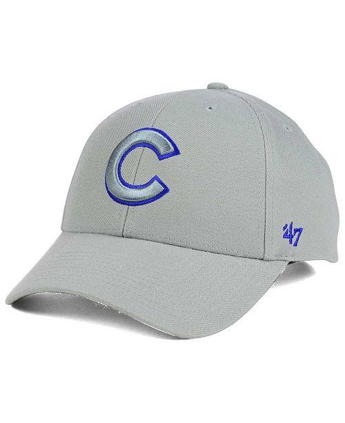 '47 Brand Chicago Cubs MVP Gray TC Pop Cap