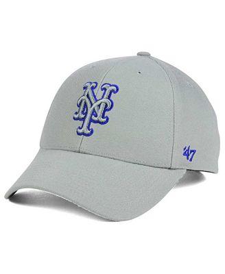 '47 Brand New York Mets MVP Gray TC Pop Cap