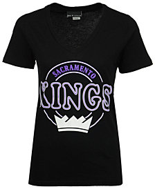 5th & Ocean Women's Sacramento Kings Circle Glitter T-Shirt
