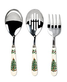Christmas Tree 3 Piece Serving Set