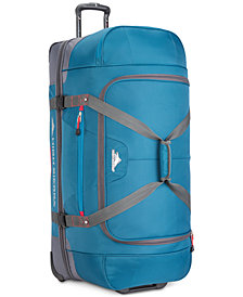 "High Sierra Decatur 34"" Drop-Bottom Wheeled Duffel, Created for Macy's"