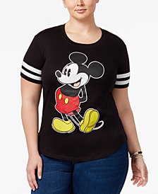 Disney Trendy Plus Size Mickey Graphic T-Shirt