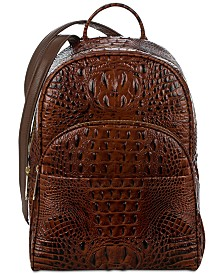 Brahmin Melbourne Mini Dartmouth Embossed Leather Backpack