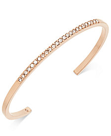 kate spade new york Rose Gold-Tone Pavé Cuff Bracelet