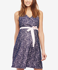 Motherhood Maternity Lace Fit & Flare Dress