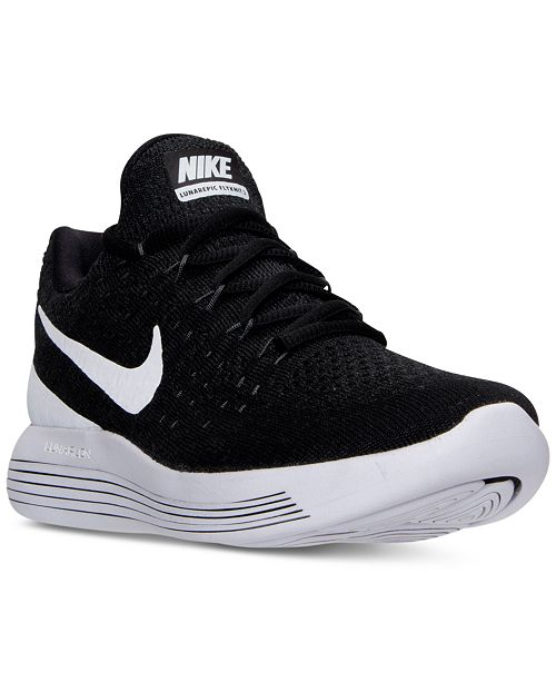 new products aacbd f4444 Nike Men's LunarEpic Low Flyknit 2 Running Sneakers from ...