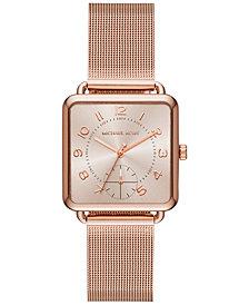 Michael Kors Women's Brenner Rose Gold-Tone Stainless Steel Mesh Bracelet Watch 31x31mm MK3664, Created for Macy's