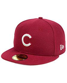 New Era Chicago Cubs Cardinal Gray 59FIFTY Cap
