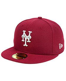 New Era New York Mets Cardinal Gray 59FIFTY Cap