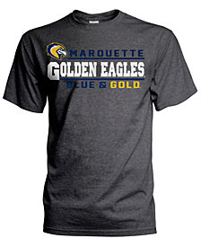 J America Men's Marquette Golden Eagles Verbiage Stack T-Shirt