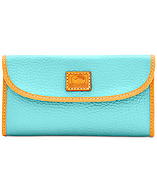 Dooney & Bourke Patterson Trifold Pebble Leather Wallet