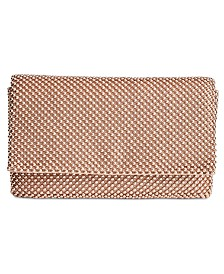 I.N.C Prudence Shiny Mesh Clutch, Created for Macy's