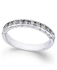 Diamond Channel-Set Band (1/2 ct. t.w.) in 14k White Gold