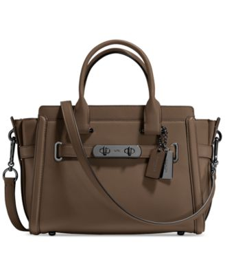 coach swagger 27 in glovetanned leather handbags accessories rh macys com