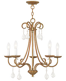 Livex Daphne 5- Light Metal Chandelier