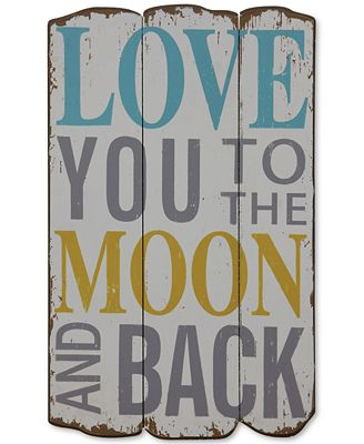 I Love You To The Moon And Back Wall Art love you to the moon and back wall decor - wall art - macy's