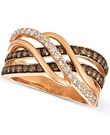 Chocolatier® Diamond Twist Ring (1 ct. t.w.) in 14k Rose Gold