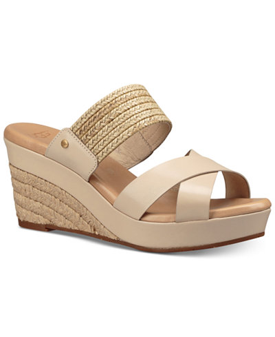 Ugg 174 Adriana Wedge Sandals Sandals Shoes Macy S
