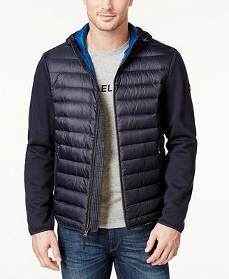 Michael Kors Men's Lightweight Packable Hooded Quilted Jacket ...
