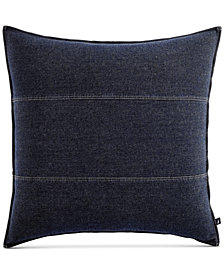 CLOSEOUT! Nautica Seaward Reversible Denim European Sham