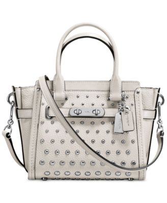 coach crossbody bag outlet 9t5p  COACH Swagger 21 in Pebble Leather with Ombre Rivets