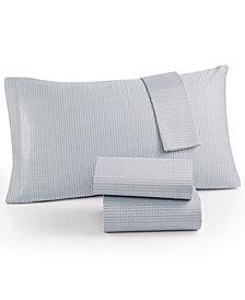 Calvin Klein Cotton Sateen 300 Thread Count Basketweave King Sheet Set