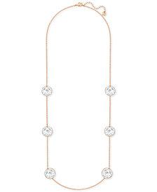 Swarovski Globe Rose Gold-Tone Crystal Necklace