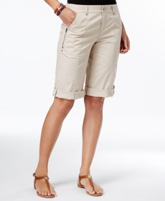 Image of Style & Co Cuffed Bermuda Shorts, Only at Macy's