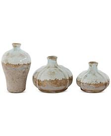 Set of 3 Terra-Cotta Vases