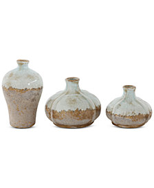 Set of 3 Terra-Cotta Vases