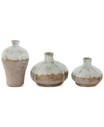 Set Of 3 Terra Cotta Vases Bowls Vases Macys Bridal And
