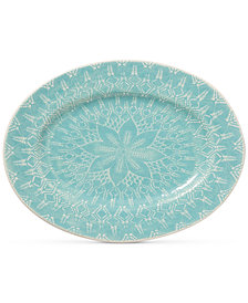 Viva by Vietri  Lace Collection Large Oval Platter