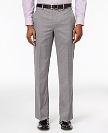 CLOSEOUT! Lauren Ralph Lauren Men's Classic-Fit Ultra-Flex Gray Sharkskin Suit Pants