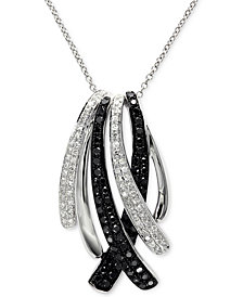 Caviar by EFFY® Diamond Pendant Necklace (3/4 ct. t.w.) in 14k White Gold