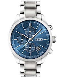 BOSS Hugo Boss Men's Chronograph Grand Prix Stainless Steel Bracelet Watch 44mm 1513478