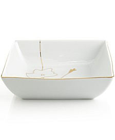 Dinnerware, Grand Buffet Silhouette Gold Square Vegetable Bowl