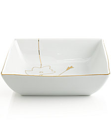 Charter Club Dinnerware, Grand Buffet Silhouette Gold Square Vegetable Bowl