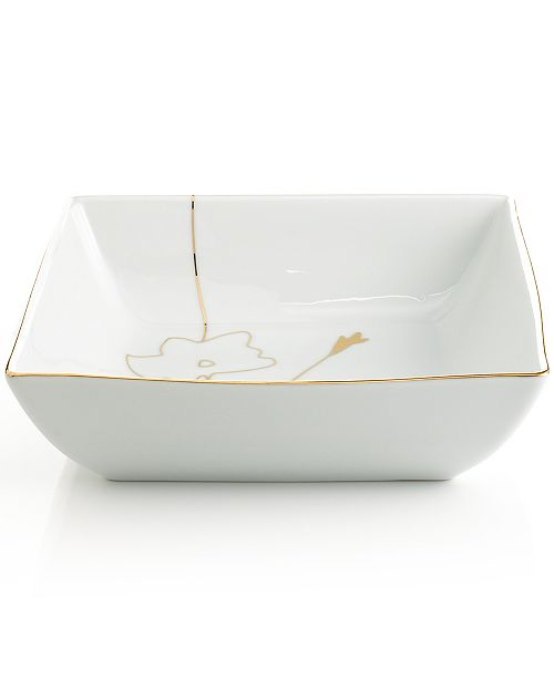 Astounding Dinnerware Grand Buffet Silhouette Gold Square Vegetable Bowl Home Interior And Landscaping Ponolsignezvosmurscom