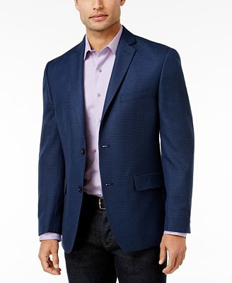 Alfani Men's Slim-Fit Soft Navy Houndstooth Jacket, Created for ...