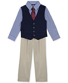 Nautica 4-Piece Vested Twill Suit Set, Baby Boys