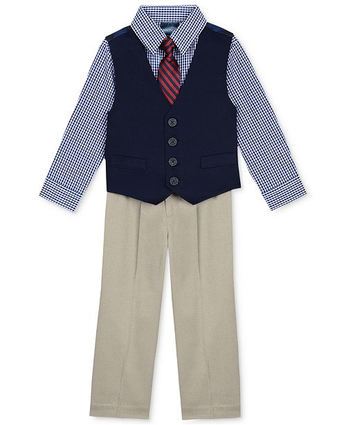 9c7381706 Nautica 4-Piece Vested Twill Suit Set, Baby Boys & Reviews - Suits ...