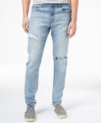 Mens bootcut ripped jeans
