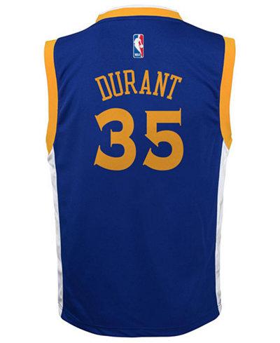 adidas Kevin Durant Golden State Warriors Revolution 30 Jersey, Big Boys (8-20)
