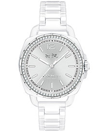 COACH Women's Tatum White Ceramic Bracelet Watch 34mm 14502601
