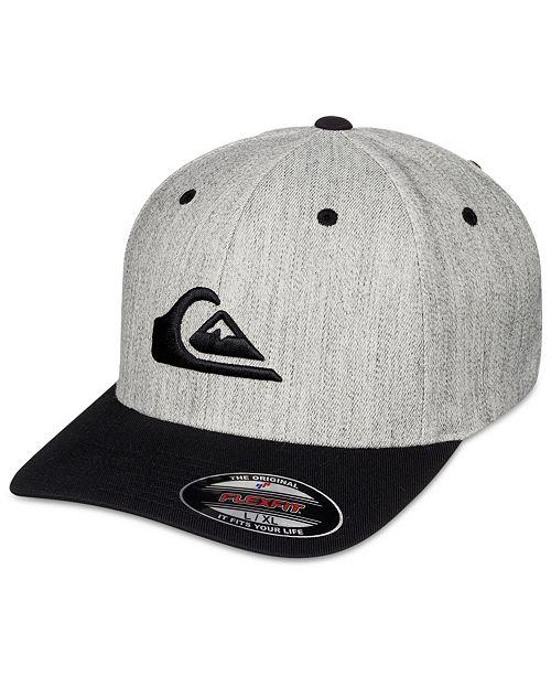 ... Flexfit Hat  Quiksilver Men s Mountain and Wave Embroidered-Logo Flexfit  ... a8061099f68c