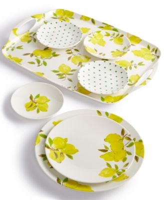This item is part of the kate spade new york Lemon Melamine Dinnerware Collection  sc 1 st  Macyu0027s : kate spade dinnerware sets - pezcame.com