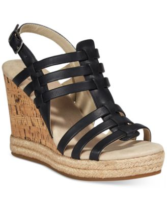 Image of White Mountain Veronique Platform Wedge Sandals